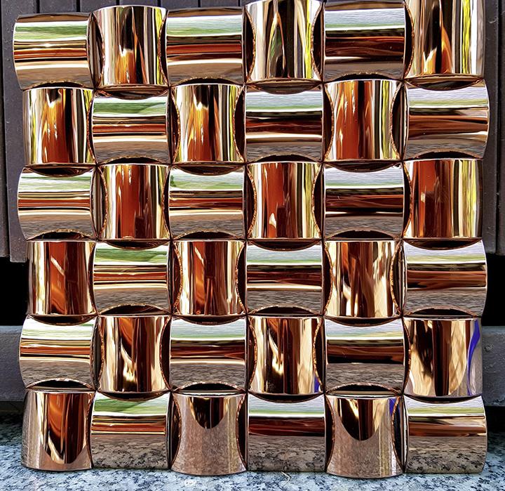 Gạch mosaic kim loại cao cấp