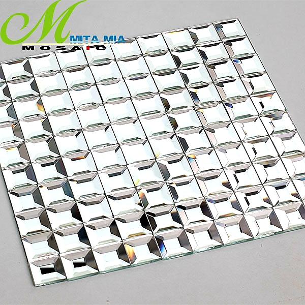 Gạch mosaic kim cương trắng