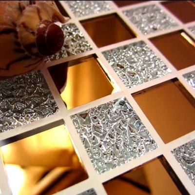 Gạch mosaic thủy tinh trắng trà giá rẻ