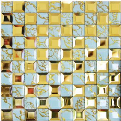 Gạch mosaic vàng trắng AL201