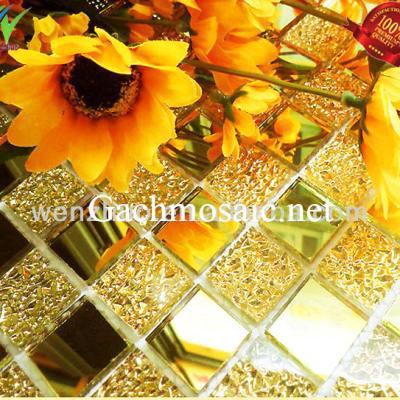 Gạch mosaic hoa văn vàng AL113