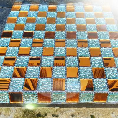 Gạch mosaic trắng trà đồng AL108