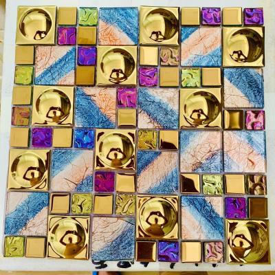 Gạch mosaic lồi nhiều màu cao cấp AN405