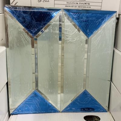 Gạch mosaic trắng xanh AN501
