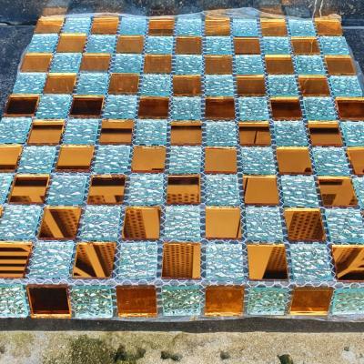 Gạch mosaic trắng trà đồng AL105