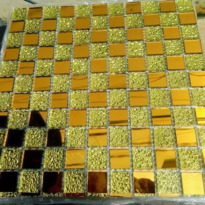 Mosaic vàng đồng hoa văn AL104
