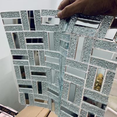 Gạch mosaic thanh trắng gương AL402