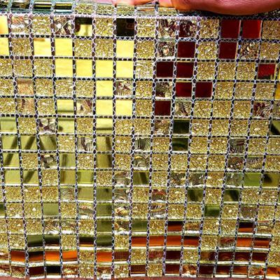 Gạch mosaic hạt nhỏ vàng AL102