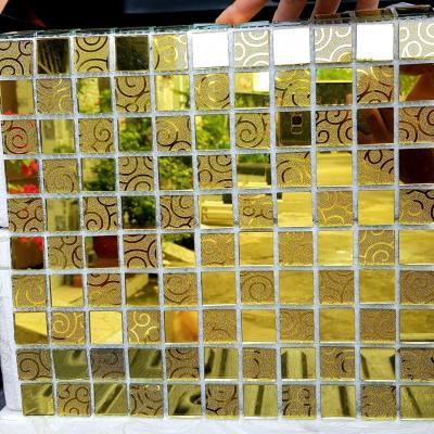 Gạch mosaic hoa văn vàng AL115