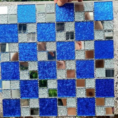 Gạch mosaic trắng xanh AL105