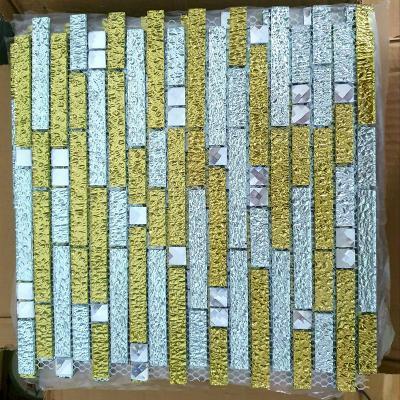 Gạch mosaic thanh vàng AL306