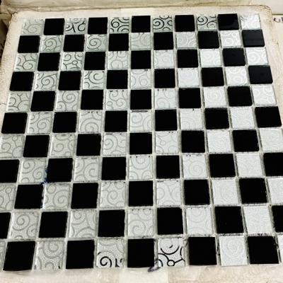 Gạch mosaic trắng đen AN505