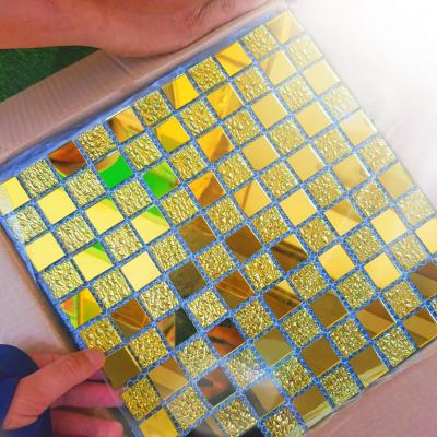 Gạch Mosaic Hoa Văn Vàng AL103