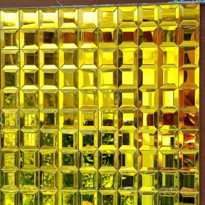 Gạch mosaic vát cạnh vàng