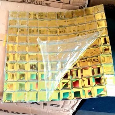 Gạch mosaic vát cạnh vàng AL202