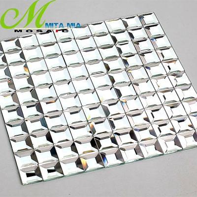 Gạch mosaic vát cạnh trắng gương AL201