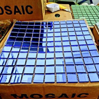 Gạch mosaic gương xanh AL303