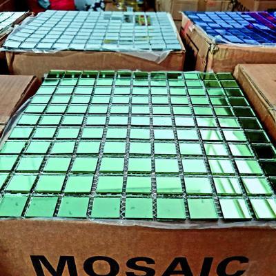 Gạch mosaic gương xanh ngọc AL302