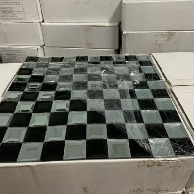 Mosaic trắng đen vát cạnh AN507