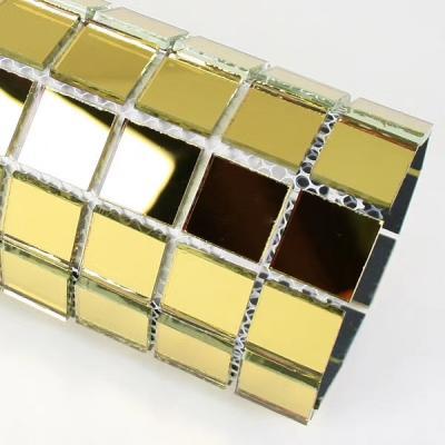 Gạch mosaic gương vàng