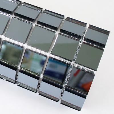 Gạch mosaic gương xám đen